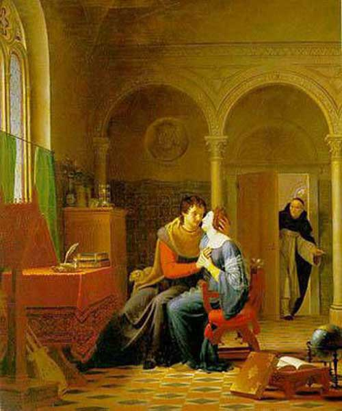 Les Amours painting Heloise and Abelard