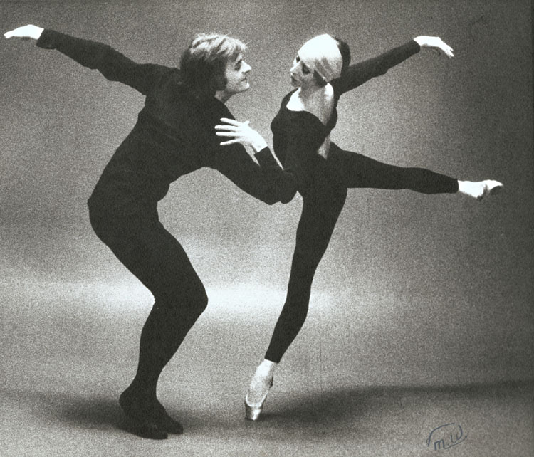 Natalia Makarova and Mikhail Baryshnikov studio rehearsal photo max waldman