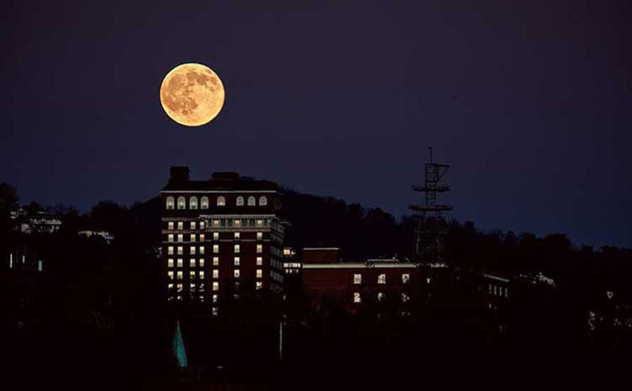 Moon over Asheville
